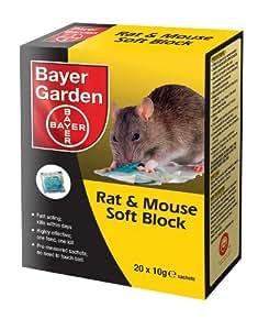 bayer garden bloc souple de poison pour rats et souris jardin. Black Bedroom Furniture Sets. Home Design Ideas