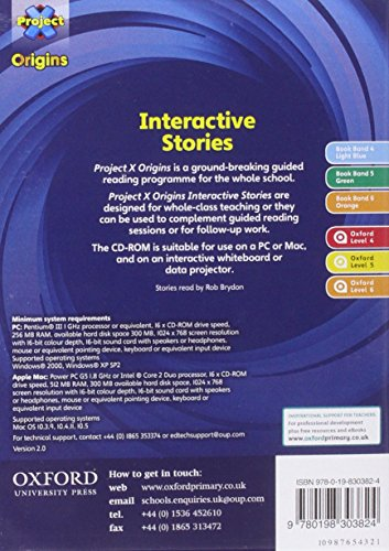 Project X Origins: Light Blue-Orange Book Bands, Oxford Levels 4-6: Interactive Stories CD-ROM Year 1/P2 Unlimited User
