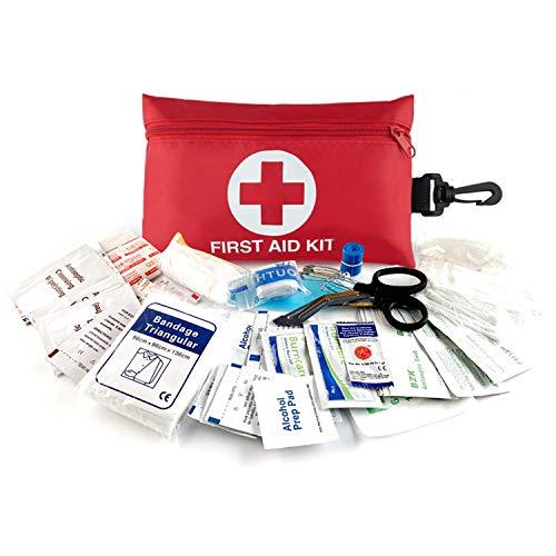 Risen Mini-Erste-Hilfe-Set, 100-teiliges kompaktes, wasserdichtes Überlebenskit für kleine medizinische Notfälle, perfekt für Auto, Reise, Heim, Fahrzeug, Camping, Arbeitsplatz und Outdoor