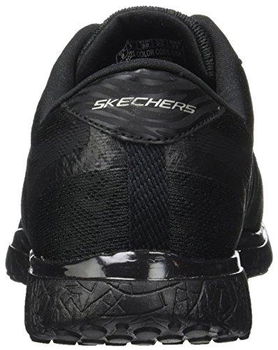 Skechers Damen Microburst-Showdown Laufschuhe Schwarz (Black)