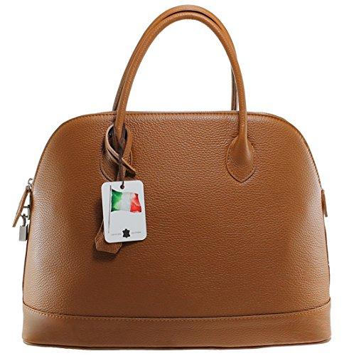 CTM Sac élégant, 40x30x15cm, 100% cuir véritable des femmes classiques Made in Italy