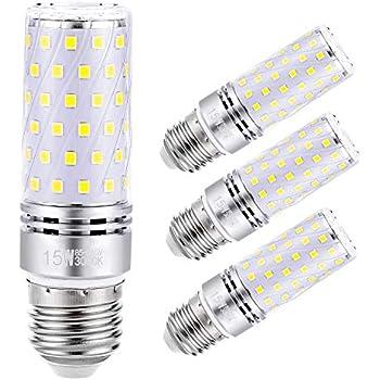 Sagel E27 LED Maíz Bombillas, 15W LED de Bombillas 120W Equivalente, 1500lm, Blanco Cálido 3000K Candelabro Bombillas LED Lámpara, Base E27, No Regulable ...