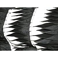 d6c38433dff7 Bordüre genäht Detail Chiffon Kleid Stoff schwarz   weiß – Meterware +  Gratis ...