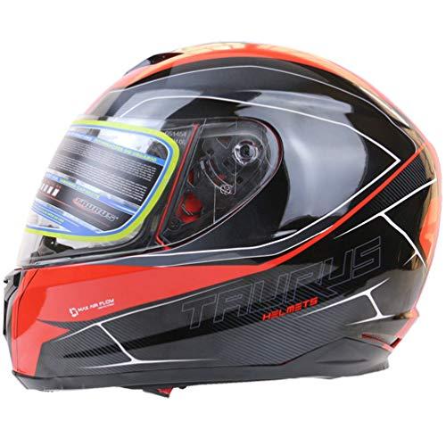 Qianliuk MotorradHelme Profi-Rennwagen Helme Motocross Helm Erwachsene
