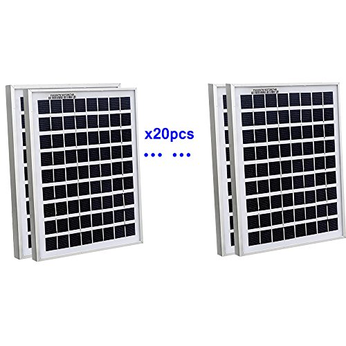 ECOWORTHY 100Watt 20pcs 5W Watt Solar Panel Ploy Solar Module 12V Battery Charger for Caravan Boat Power - Linear Battery Charger Controller