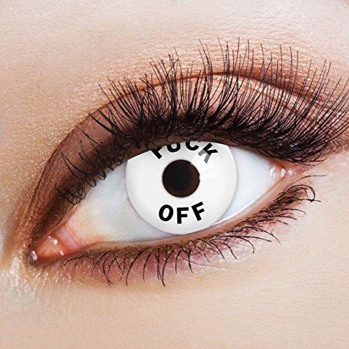 aricona Kontaktlinsen crazy weiße Kontaktlinsen farbig Karneval / Festival Gadget