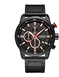 Reloj cronógrafo multifunción para Hombre con Reloj de Pulsera de Cuarzo analógico de Lujo Resistente al