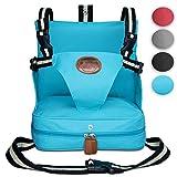 KIDUKU® Sedile Booster 4 diferente colores, seggiolino per Sedia, seggiolino portatile (Turchese)