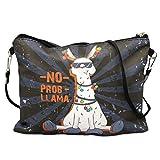 1x Umhängetasche - Llama schwarz | Lama Geschenk | Geschenk für Freundin | Lama Tasche | Tasche mit Spruch | lustige Geschenke | mit Motiv | Preis am Stiel®