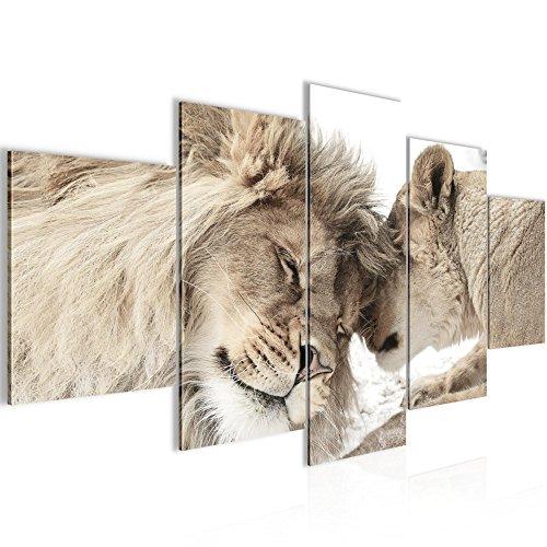 Bilder Löwen Liebe Wandbild 200 X 100 Cm Vlies   Leinwand Bild XXL Format  Wandbilder Wohnzimmer