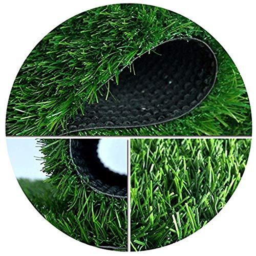 Mysida Artificial Grass WJ Kunstrasen Teppich Simulation Rasen Kunststoff Fake Rasen Balkon Kindergarten Top Green Carpet Kissen Dekoration (Color : T 3cm, Size : 2 * 4m)
