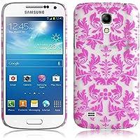 JAMMYLIZARD | Damast- Motiv Back Cover Hülle für Samsung Galaxy S4 Mini, ROSA