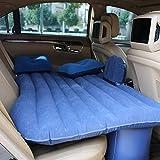 Coche inflable cama hinchable Camping Asiento Trasero Extended coche universal de coche cojín cama hinchable flocado colchón cama de aire para niños (azul)