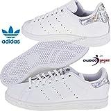 adidas Stan Smith J, Chaussures de Gymnastique Mixte Enfant, Blanc FTWR White/Core...