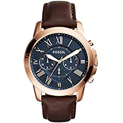 Fossil Grant Analog Blue Dial Men's Watch - FS5068