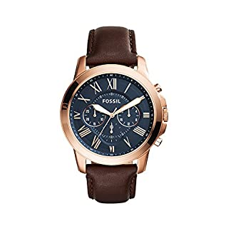 Fossil Grant Analog Blue Dial Men's Watch – FS5068