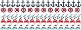 Graz Design 771038_150x57 Wandsticker Set Badezimmer viele kleine Motive im maritimen Look für Ihr Bad