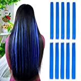 10pcs-Colored-Clip-in-Hair-Extensions-22-Straight-Fashion-Hairpieces-for-Party-Highlights