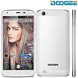 DOOGEE T6 Pro Smartphone, teléfono móvil con batería 6250mAh - Cámara de 13MP + 5MP - Pantalla HD de 5.5 pulgadas - Sistema android 6.0 - OTG & OTA - Dual SIM-Free-Blanco