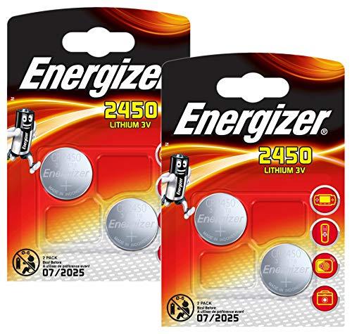 Energizer 2450 CR2450 Premium Lithium 2x2er Set (4 Stück Batterien) -