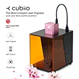 Cubiio PL-01 Portable Laser Engraving Printer/Laser Cutting USB Carving Machine for Multiple Materials, Pink