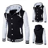 Kapuzenpullover Herren, DAY.LIN Mantel Jacke Outwear Sweatshirt Winter Schlank Hoodie Warme Kapuze Sweatshirt (L, Weiß)