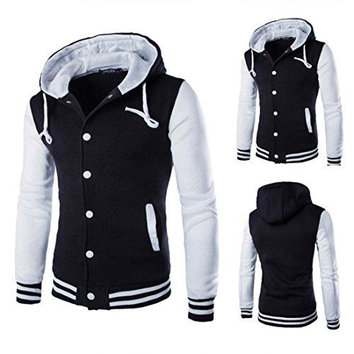 Kapuzenpullover Herren, DAY.LIN Mantel Jacke Outwear Sweatshirt Winter Schlank Hoodie Warme Kapuze Sweatshirt (M, Weiß)