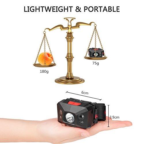 Stirnlampe LED, USB Wiederaufladbare Kopflampe Wasserdicht Leichtgewichts stirnlampen Perfekt fürs Joggen, Laufen Campen Angelnund Radfahren, für Kinder und mehr - 3