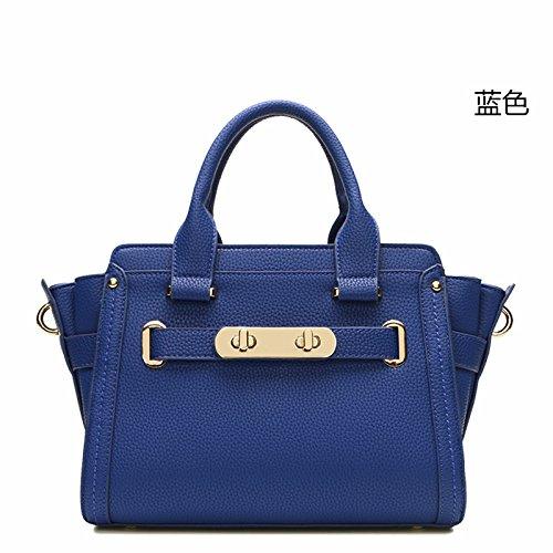 GUANGMING77 _ Borsa Donna Borsa Crossbody Goffrata,Gules blue