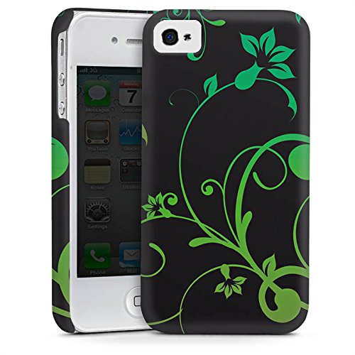 Apple iPhone 4 Housse Étui Silicone Coque Protection Guirlandes de fleurs Fleurs Fleurs Cas Premium mat
