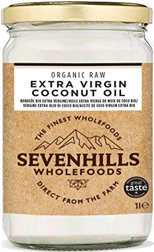 Sevenhills Wholefoods Crudo Vergine Extra Olio Di Cocco Bio, Spremuto A Freddo 1L