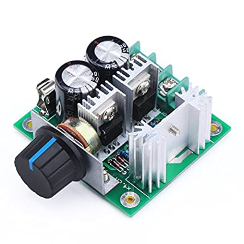 DROK® 13KHZ PWM DC Motor Speed Control 12-40V 10A Electric Pump Fan Speed Stepless Control Module with Reverse Polarity Protection High-Current Protection