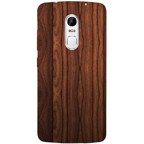 Casotec Wooden Texture 3D Printed Hard Back Case Cover for Lenovo Vibe X3
