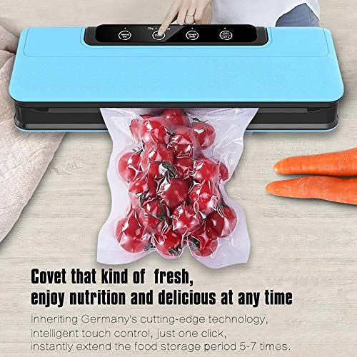 ZUEN Vakuumversiegelungsmaschine für die Trocken- und Nasskostkonservierung und das Kochen. Geschenk 15 Vakuumbeutel Haushaltsvakuumsiegelmaschine