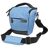 Evecase Compact DSLR Camera Holster Case Shoulder Bag for Canon, Nikon, Olympus, Pentax, Sony, Samsung Digital Cameras - Blue