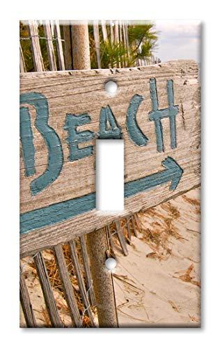 Beach this Way Wandplatte, Übergröße Einzel-Kippschalter Mehrfarbig -