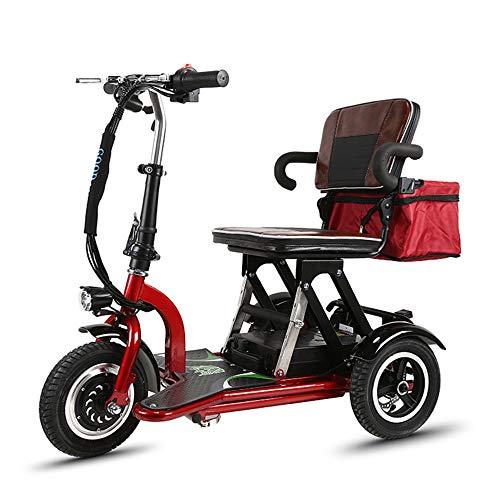 Silla de Ruedas eléctrica Ancianos discapacitados Mini Triciclo eléctrico Plegable Inicio Coche...