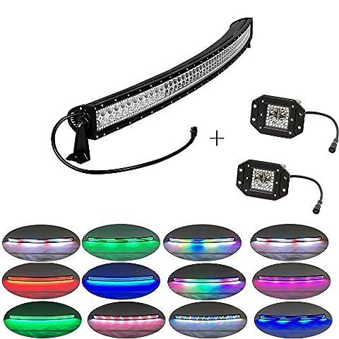 Colorbarz® 300Watt 52zoll Gebogen Jagen Led Licht Bar Halo +