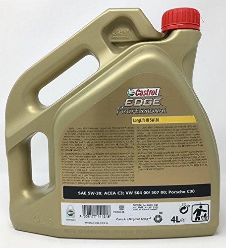 Huile de moteur Castrol Edge Professional Longlife III 5W-30, 4 litres (nouvel emballage 2018)