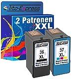PlatinumSerie® Farbset 2x Tinten-Patrone für Lexmark 36 XL + 37 XL X4650 X 5690 X6650 X 6675 X6690 Z2400 Z2410 Z2420