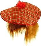 Neuf Tartan écossais Chapeau et perruque de cheveux roux Sylvestre Fancy Dress