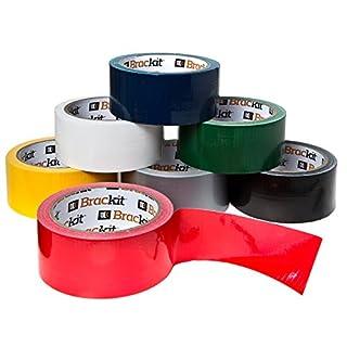 Gewebeband rot, schwarz, gelb, weiß, silber, blau, grün 7 Rollen je 48mm x 15m Klebeband farbig bunt Isolierband Abklebeband