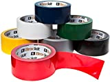 Brackit 15M x 48mm Colored Duct Tape Variety Pack| Set of 7 Duct Tape Rolls (Navy Blue, White, Gray, Red, Yellow, Green & Black) | Duct Tape Multi Pack for Arts & Crafts, DIY Projects, Signage