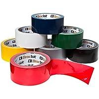 Paquete de Cinta Americana Brackit en Colores Surtidos 15m x 48 mm   Paquete con 7 Rollos de Cinta Americana (Azul marino, Blanco, Gris, Rojo, Amarillo, Verde y Negro)   Cinta Americana Multiuso