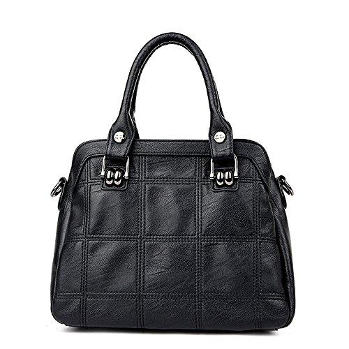 Meoaeo Single Schultertasche Handtasche Alle Einfachen - Gleiches Auto Naht Schulter Hellgrau black
