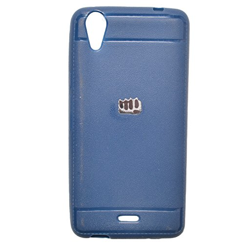 Iway Leather Finish Soft Back Cover for Micromax Canvas Selfie Lens Q345 - Blue  available at amazon for Rs.109