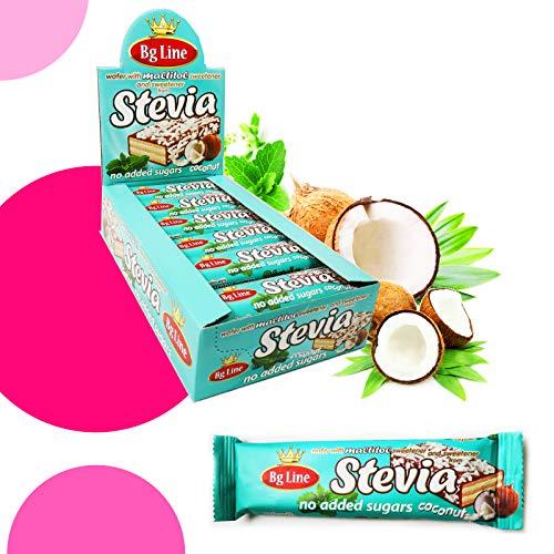 Bg Line Coconut, Kokos-Waffelriegel mit Stevia, Ohne Zuckerzusatz 24x 35g