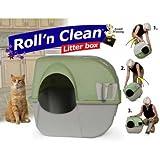 Katzentoilette Roll n Clean braun/grau, Katzenklo, Haubentoilette