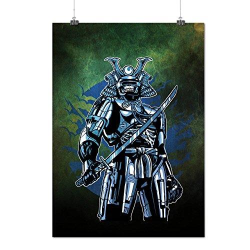 Schwarz Krieger Mode Mattes/Glänzende Plakat A3 (42cm x 30cm) | (Krieger Kostüm Weibliche Samurai)
