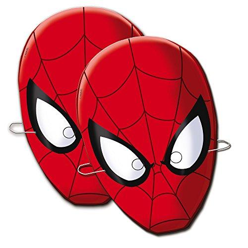 Pappkarton Kostüm Erwachsene Für - Spider-Man Spiderman Verbetena 014300010 Masken, 6 Stück